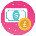 cash, currency, exchange dollar, exchanging, money conversion, money exchange icon