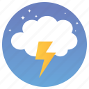 cloud with thunder, lightning, storm, thunder cloud, thunder storm, weather flash icon