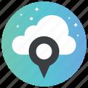 cloud navigation, cloud storage, gps, online gps, online location icon