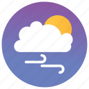 cloud computing, cloud view, cloudy day, forecast, sunny weather icon