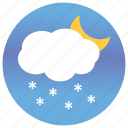 cloud computing, cloudy night, cloudy weather, night view, rain view, weather icon