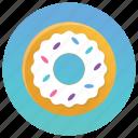 bakery item, cream donut, dessert, donut, sweets