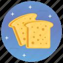 bread slice. toast, breakfast, food, morning food icon