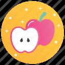 apple, apple cut, food, fruit, healthy diet, nutrition diet icon