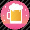 alcohol, alcoholic beverage, alcoholic mug, bar, beer, beer mug icon