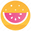 food, fruit, fruit slice, watermelon, watermelon slice icon