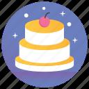 bakery item, cake, cream cake, dessert, sweets icon
