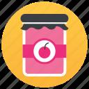 breakfast items, food item, jam bottle, jam jar, jelly jar, sweets