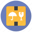 parcel delicate, parcel protection, parcel security, safe delivery, secure delivery icon