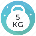 barbell, dumbbell, fitness bell, kettlebell, weight bell icon