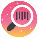 bar code, qr code, scan, scanning, searching icon