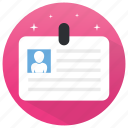 employ card, id, id card, identity card, student card icon
