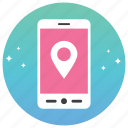 gps, mobile navigation, online gps, online location, pin icon