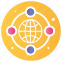 earth globe, global network, international communication, world wide network, www icon