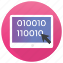 binary code, coding, genetic, laptop programming, seo icon