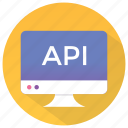 api, api application, api concept, api interface, programming interface icon