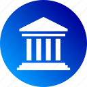building, governament, governamental, governance, gradient, institution icon