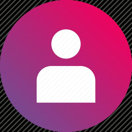 account, gradient, person, profile, user icon