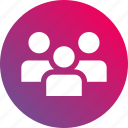 cast, gradient, group, members, people, users icon
