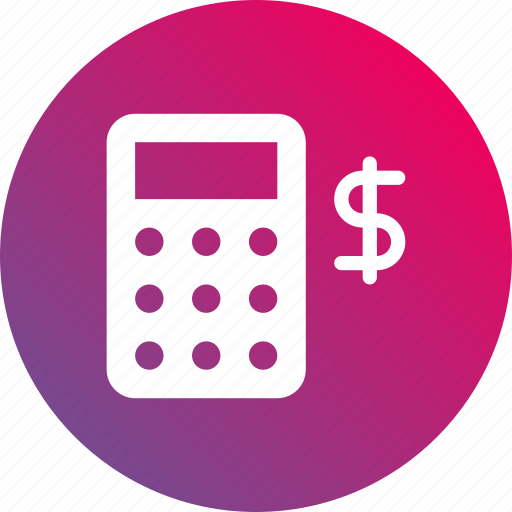 accounting, calculator, financial, gradient, math icon