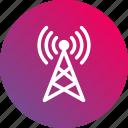 3g, antenna, broadcast, gradient, radio, signal, waves