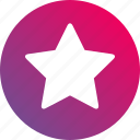 favorite, gradient, shape, star icon