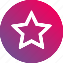 favorite, gradient, hollow, outline, shape, star icon