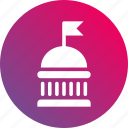 government, gradient, administration, governmental, department, institution icon