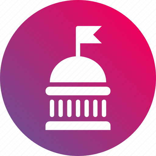 administration, department, government, governmental, gradient, institution icon