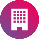 building, business, company, gradient icon