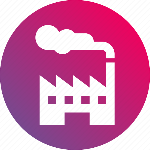 factory, gradient, industry, mill, plant icon