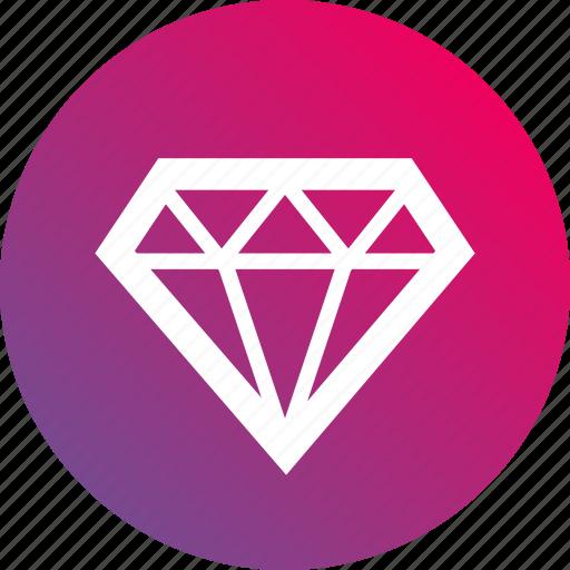 asset, diamond, good, gradient, jewel, jewelry icon