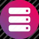 computer, database, gradient, hardware, mainframe, server icon