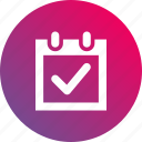 appointment, calendar, date, event, gradient icon