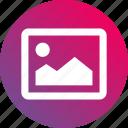 bitmap, gradient, image, phot, picture icon