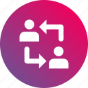 collaboration, contribution, cooperation, gradient icon