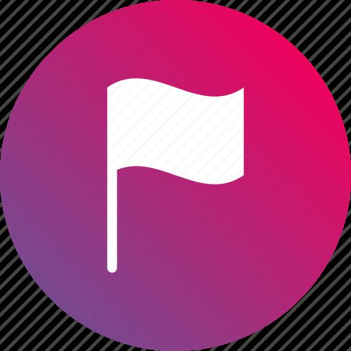 banner, flag, gradient icon