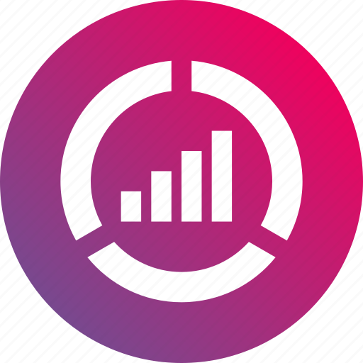 analytics, bar chart, chart, gradient, report icon