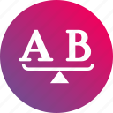 ab test, ab testing, choose, gradient, methodology, options, select icon