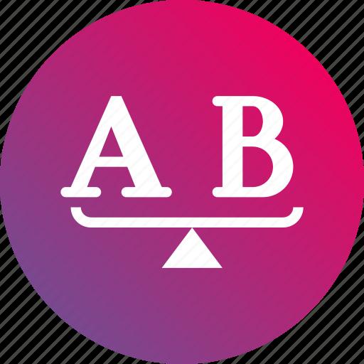 ab test, ab testing, choose, gradient, methodology, options, select icon