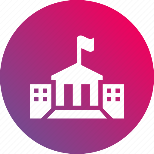 building, campus, college, education, gradient, scholar, university icon