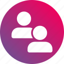gradient, group, user, users icon