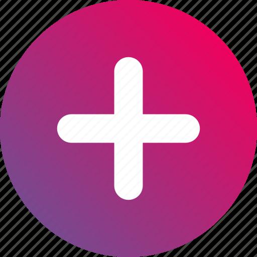add, create, gradient, more, plus icon