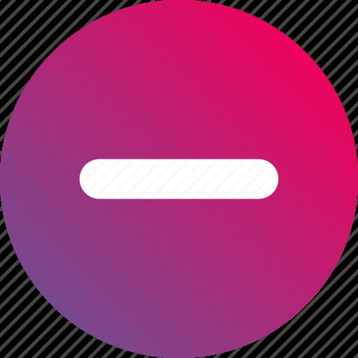 cancel, delete, gradient, less, minimize, minus, remove icon