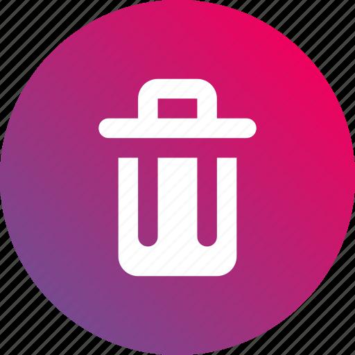 bin, delete, gradient, remove, trash icon