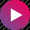 audio controls, gradient, play, playback, video controls icon