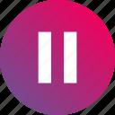 audio controls, gradient, pause, playback, video controls icon