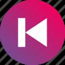 audio controls, back, gradient, jump, previous, track icon