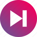 audio controls, gradient, jump, next, track icon
