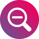 area zoom, gradient, magnifier, magnify, minus, zoom in, zoom out icon